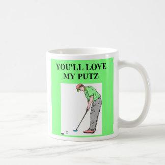 golf puts putz joke, golf puts putz joke classic white coffee mug