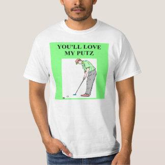golf puts putz joke shirts