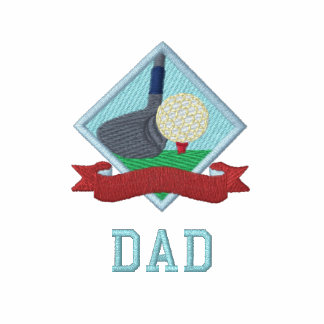 Golf Putt Banner Personalized Logo Polo Shirt
