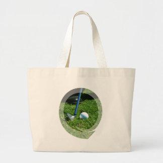 Golf Putt Canvas Tote Bag