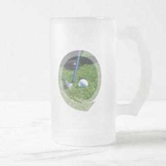 Golf Putt Frosted Beer Mug