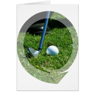 Golf Putt Greeting Card