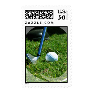 Golf Putt Postage Stamp