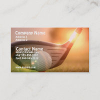 Golf Putter Business Card