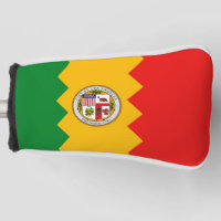Golf Putter Cover with Flag of Los Angeles, USA