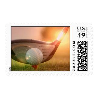 Golf Putter Postage Stamp