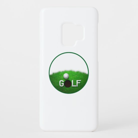 Golf Putting Green Golf Ball Popular Typographic Case-Mate Samsung Galaxy S9 Case