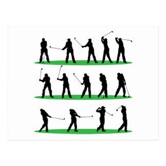 Golf que conduce secuencia tarjetas postales