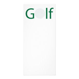 Golf Rack Card