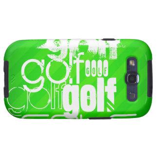Golf; Rayas verdes de neón Galaxy S3 Coberturas