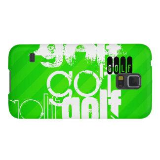 Golf; Rayas verdes de neón Carcasa De Galaxy S5