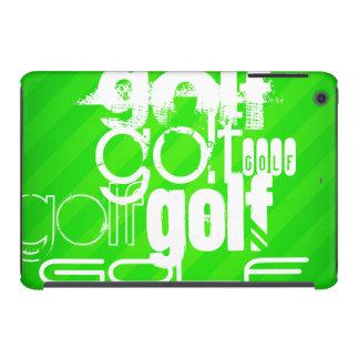 Golf; Rayas verdes de neón Fundas De iPad Mini Retina