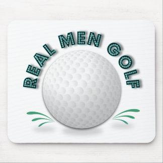 Golf real de los hombres alfombrillas de ratones