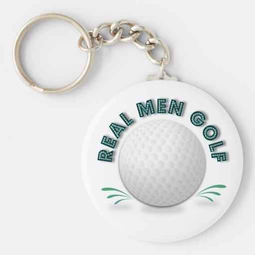 Golf real de los hombres llavero personalizado