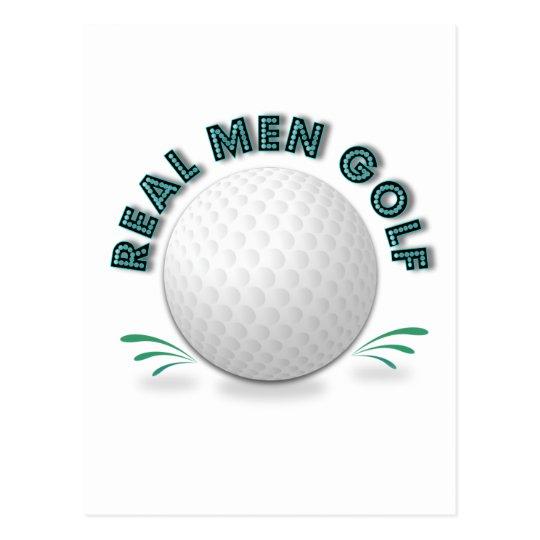 Golf real de los hombres tarjetas postales