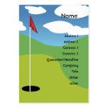 Golf - rechoncho tarjetas de visita grandes