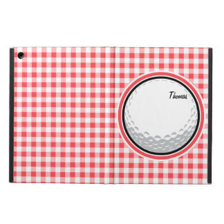 Golf Red and White Gingham iPad Air Cases