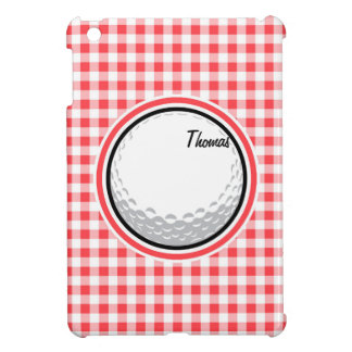 Golf Red and White Gingham Case For The iPad Mini