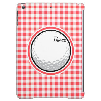 Golf Red and White Gingham iPad Air Case
