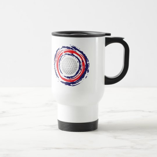 Golf Red Blue And White Travel Mug