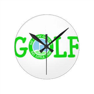 Golf Reloj Redondo Mediano
