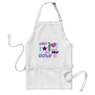 Golf Repeating Adult Apron