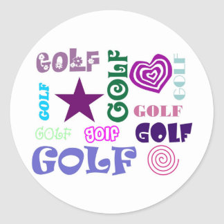 Golf Repeating Classic Round Sticker