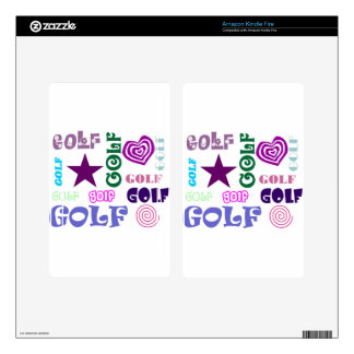 Golf Repeating Kindle Fire Decal