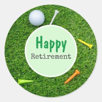 Golf Retirement Classic Round Sticker