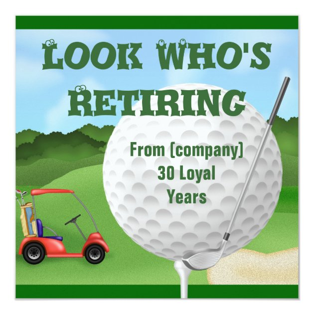 golf retirement invitations template