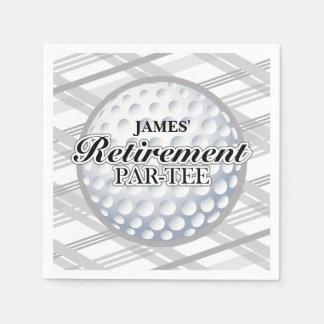 Golf Retirement Party, Custom Napkins