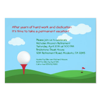 Golf Retirement Party Invitation