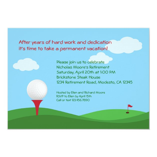 Golf Retirement Party Invitation | Zazzle