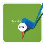 "Golf Retirement Party Invitation - Get the Swing 5.25"" Square Invitation Card"