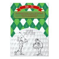 Golf Retirement Party Invites Vintage Retro
