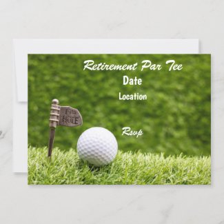 Golf Retirement Party Save the date with 19th flag Invitation
