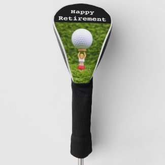 Golf retirement with caddy carry golf ball golf head cover