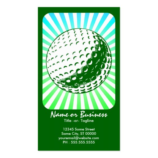 golf : retro rays : business cards
