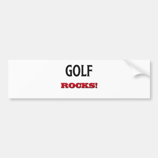 Golf Rocks Bumper Sticker