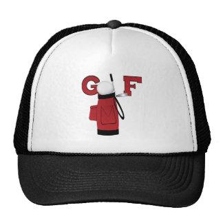 Golf rojo de la bolsa de golf gorra