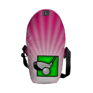Golf rosado bolsas de mensajeria