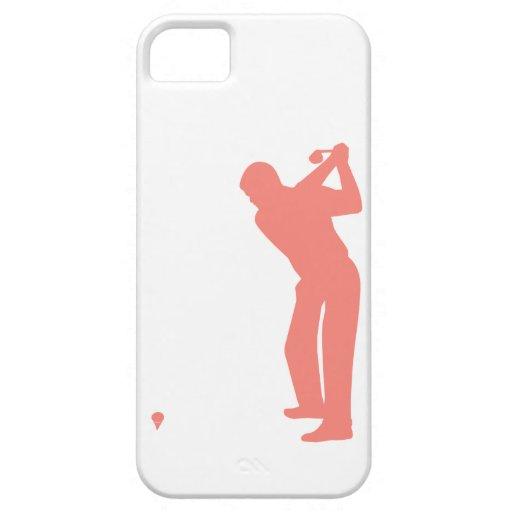 Golf rosado coralino iPhone 5 Case-Mate fundas