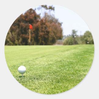 Golf Round Stickers