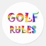 Golf Rules Classic Round Sticker