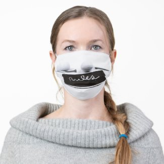 Golf rules cloth face mask