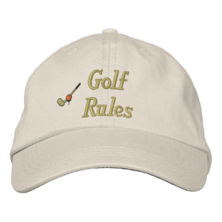 Golf Rules Embroidered Hat