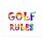 Golf Rules Postcard