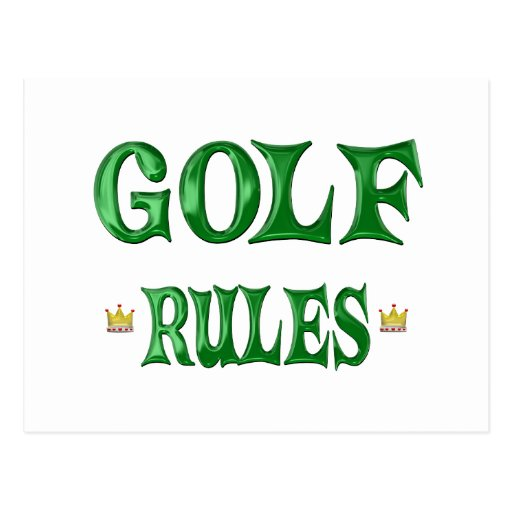 Golf Rules Post Cards