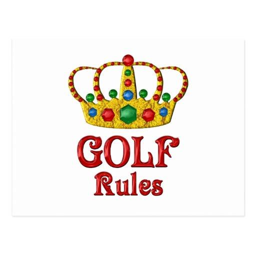 GOLF RULES POST CARD
