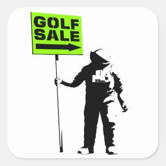 Golf Sale Square Sticker